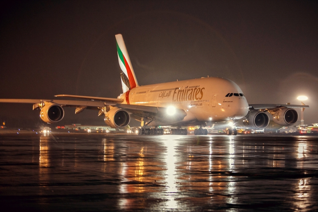 The-Emirates-A380-pictured-at-DME-Moscow